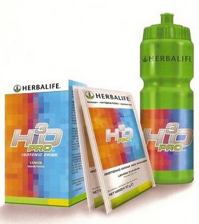 Isotonic sports drinks from Herbalife